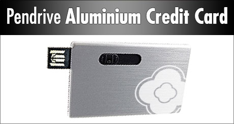 USB Alu Credit Card z LOGO