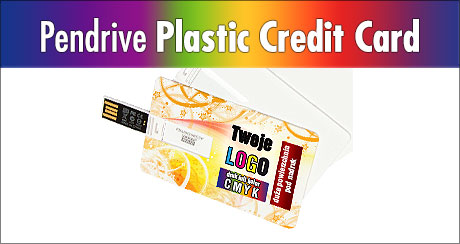 USB Plastic Credit Card z LOGO